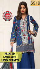 Load image into Gallery viewer, WYSI-6919 - PRINTED ORIGINAL 3PC LAWN SUIT WITH LAWN DUPATTA - SUMMER COLLECTION 2019 - 2020