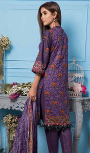 WYSL-6983 - PRINTED ORIGINAL 3PC LAWN SUIT WITH LAWN DUPATTA - SUMMER COLLECTION 2019 - 2020