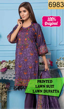 Load image into Gallery viewer, WYSL-6983 - PRINTED ORIGINAL 3PC LAWN SUIT WITH LAWN DUPATTA - SUMMER COLLECTION 2019 - 2020