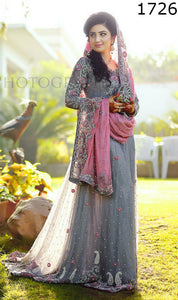 WYYH-1726-FULL EMBROIDERY Designer 3PC CHIFFON Suit With CHIFFON Dupatta - PARTY WEAR DRESS