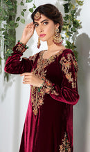 Load image into Gallery viewer, WYYH-7779 - FULL EMBROIDERED DESIGNER 3PC VELVET SUIT WITH NET DUPATTA - WINTER COLLECTION 2019 / 2020