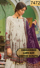 Load image into Gallery viewer, WYZA-7472 - FULL EMBROIDERED DESIGNER 3PC LAWN SUIT WITH CHIFFON DUPATTA - SUMMER COLLECTION 2019- 2020