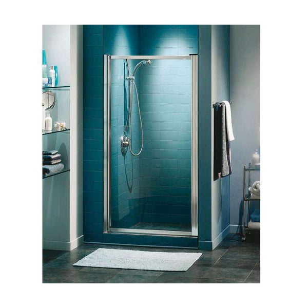 MAAX Shower Door with Clear Glass and Chrome Trim
