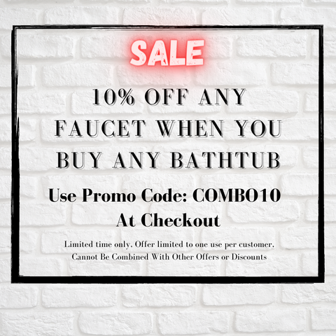 10% Off Any Faucet With The Purchase Of Any Tub - BNG Bath