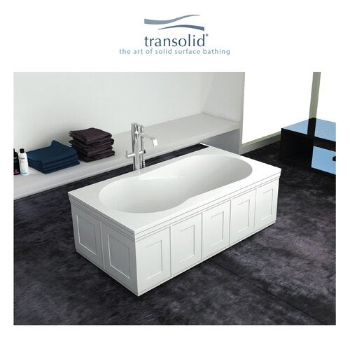 Transolid SBR6032-F-01 Brookfield Artificial Stone 60-In Drop-In Bathtub - BNGBath