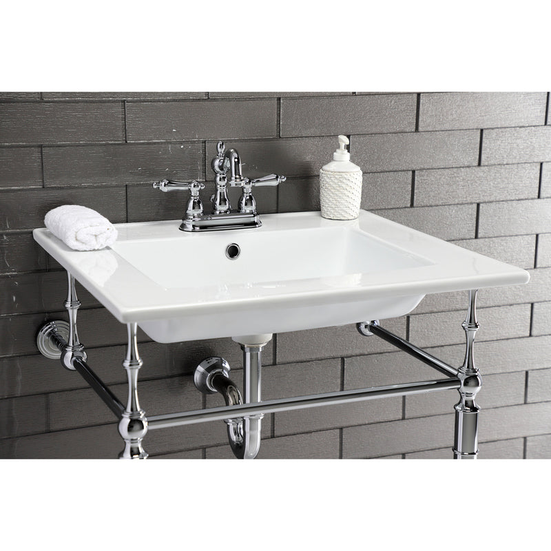 Continental 25 X 22 Ceramic Vanity Sink Top w/Integrated Basin 3 Hole - BNGBath