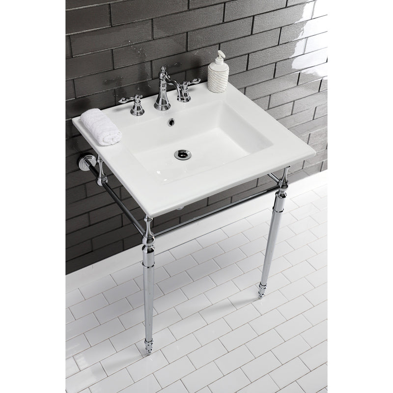 Continental 25 x 22 Ceramic Vanity Sink Top w/3 Hole Integrated Basin - BNGBath