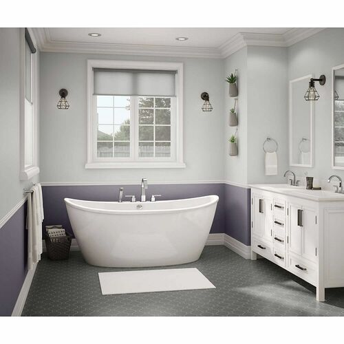 MAAX 106193-000-002 Delsia 66in x 36in Soaking Bathtub with Center Drain - BNGBath