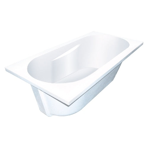 Transolid SBR6032-01 Brookfield 60-in L x 32-in W x 19-in H Resin Stone Drop-in/Undermount Bathtub with end drain, in White - BNGBath