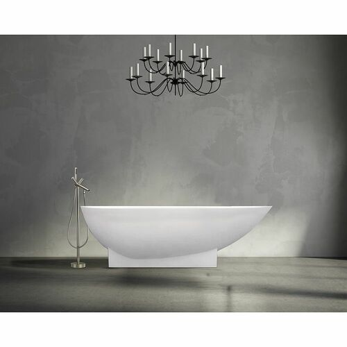 Transolid T4230-BN Duvall Free Standing Tub Filler With Hand Shower, Brushed Nickel - BNGBath