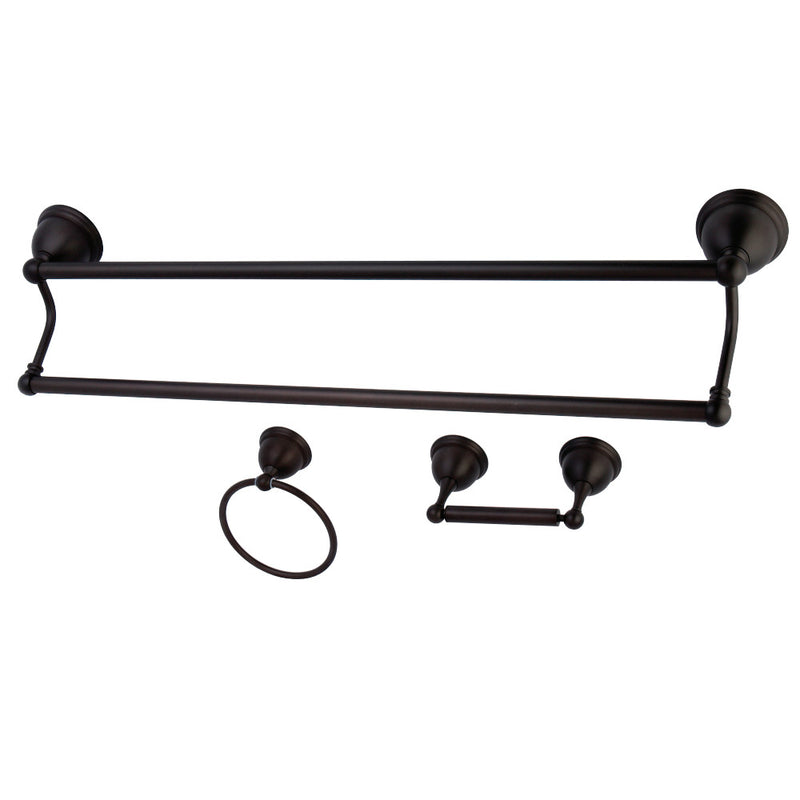Kingston Brass BAK396348ORB Restoration 3-Piece Bathroom Hardware, Oil Rubbed Bronze - BNGBath