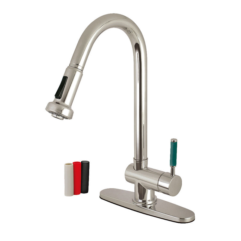 Gourmetier Green Eden Pull-Down Kitchen Faucets - BNGBath