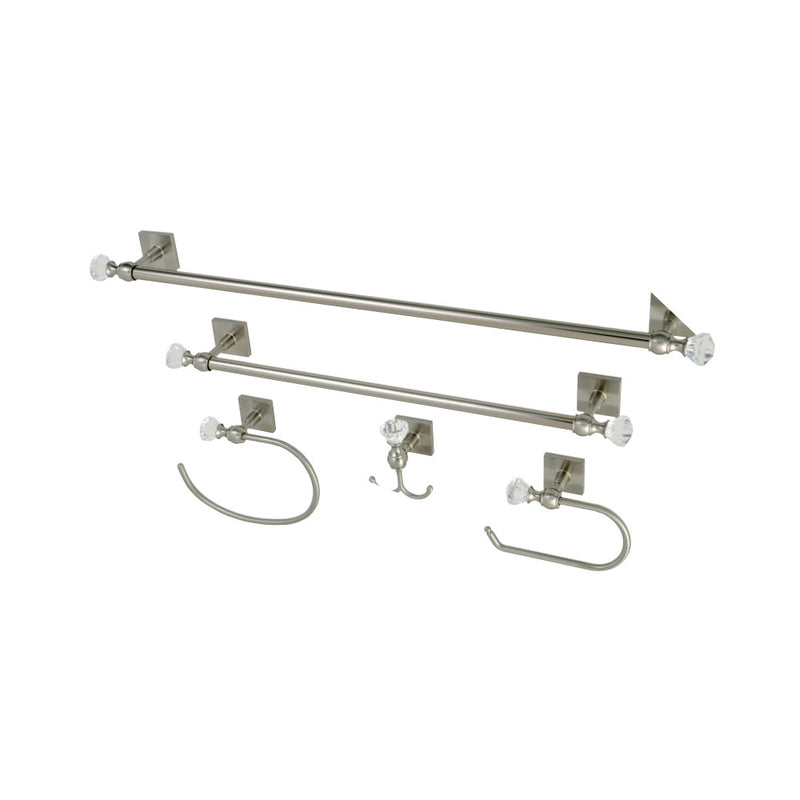 Kingston Brass BAHK70512478SN 5-Piece Bathroom Accessory Combo, Brushed Nickel - BNGBath