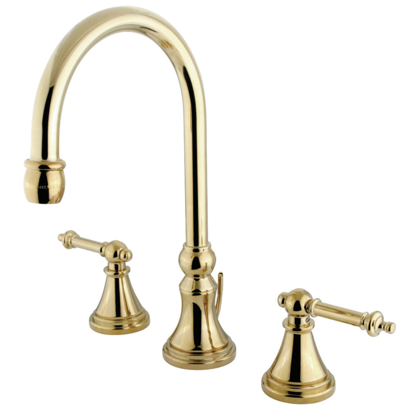 Kingston Brass Tuscany Widespread Bathroom Faucets - BNGBath