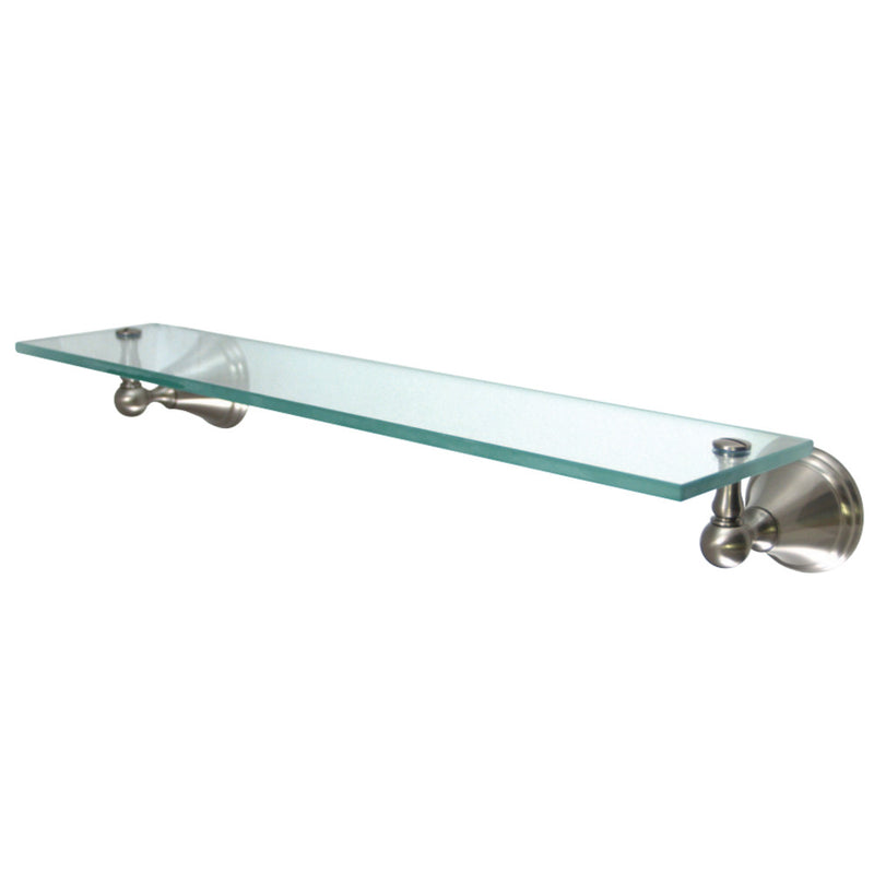 Kingston Brass BA2979SN Governor Cosmetic Glass Shelf, Brushed Nickel - BNGBath