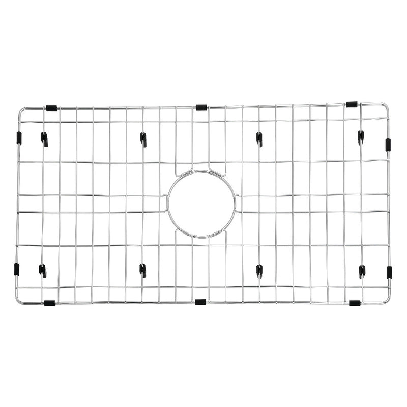 "Gourmetier GKFAWR3018 Arcticstone 26""X14"" Kitchen Sink Grid, Brushed - BNGBath"