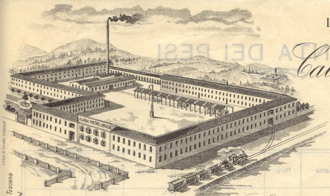 Letterhead of the Calamai Factory as it appeared in the early 1900s | fabbrica Calamai Prato