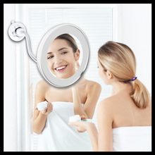 Load image into Gallery viewer, 10x Magnifying LED Lighted Makeup Mirror - The Neon Hype