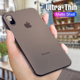 0.3MM Ultra Thin Matte PP Case For iphone X XS Max XR 11 Pro SE 2020 PC Phone Cover For iphone 7 8 6 6s plus Shockproof Cases