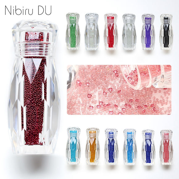 1 Bottle Crystal Caviar Beads Nail Rhinestones Micro Bead Gravel