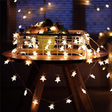 10/20/40/80 LED Star Light String Twinkle Garlands Battery Powered Christmas Lamp Holiday Party Wedding Decorative Fairy Lights