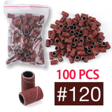 100pcs Electric Nail Sanding Bands Apparatus for Manicure