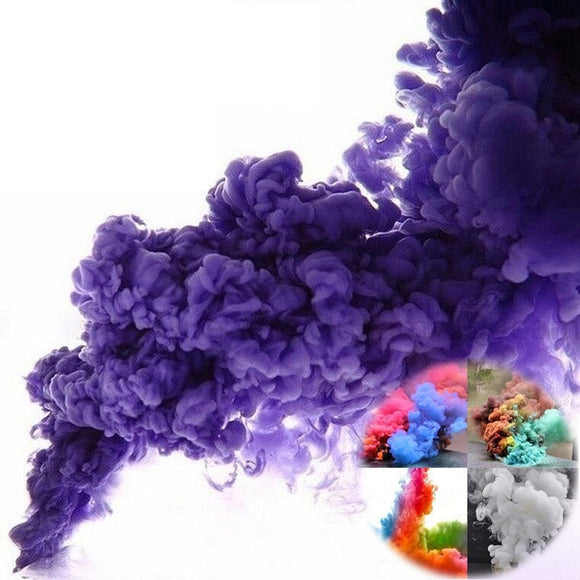 10pcs Smoke Cake Colorful Spray Smoke Effect Round Bomb Party Stage Studio Photography Props Magic Light Fog Smoke Cake Maker