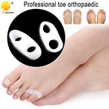 1Pair=2pcs Silicone Little Toe Finger Straightener Hallux Valgus Bunion Corrector Foot Health Care Product smrp