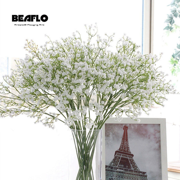 1pc Artificial Baby's Breath Flower Gypsophila Fake Silicone plant for Wedding Home Hotel Party Decoration 5 Colors