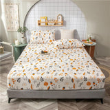 1pc Bed Sheet with Elastic Cartoon Dinosaur Printed Bed Fitted Sheet for Kids Single sabanas cama Bed Sheet Cotton