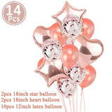 1st Happy Birthday Balloon Set My First Party Decorations Kids Baby Boy Girl I AM ONE 1 Year Old Supplies Rose Gold