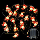 2 Meters Christmas LED Light Decorations Santa Claus Elk Christmas Tree Snowflakes Snowman Ornament Garland Glowing In the Dark