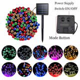 200 Led Solar String Lights Christmas Tree Decorations for Home Outdoor 3 Mode Festoon Led Light Fairy Garden New Year's Garland