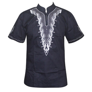Africa Shirt for Male Summer Wearing  Men Dashiki Bazin Embroidery Tops African Clothes