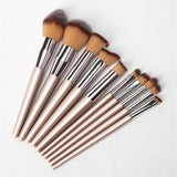 2019 New Arrive 10 Pcs Makeup Brush Set Soft Synthetic Hair Cosmetics Foundation Powder Blending Blush Lady Beauty Makeup Tools