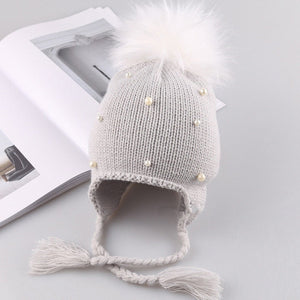 2020 Hot Sale cute kid babies Beanies caps Child Crochet Winter Warm Knit Hats