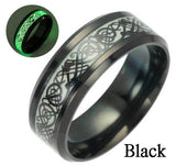 New Arrive Fashion 316L Stainless Steel Golden Dragon Man's Ring Blu-ray Simple Fashion High Quality Jewelry