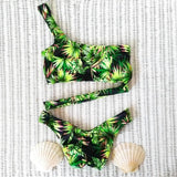 New Sexy Bandeau Bikini Set Women Swimwear Push Up Swimsuit