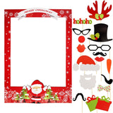2021 Happy New Year Photobooth Props 2020 Merry Christmas Eve Decorations For Home Ornaments Santa Claus Tree Xmas Snowman Hat