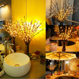 20LED Willow Tree Branch Warm Light Fairy Lamp Christmas Home Party Decoration Glow Party Supplies