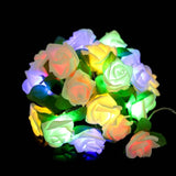 20 Led Rose Flower String Battery Powered Fairy Lights Wedding Birthday Valentine's Day Event Party Garland