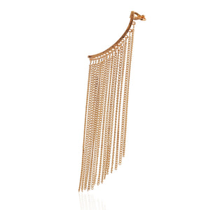 Exaggerated tassel ear clip