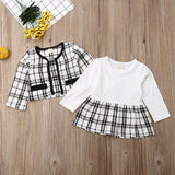 2Pcs Autumn Winter Party Kids Clothes For Baby Girl Fashion