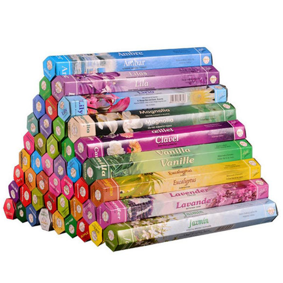 3/6/9/12 Boxes Multiple Flavor Mixed Package tibetan Incense Stick Premium Indian Yoga Incense