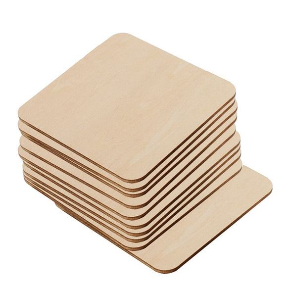 30/20/10/8/6/5/2/cm.Square board Wood blank tags. Indicate products. DIY tips label.baby intellectual toys 017010005