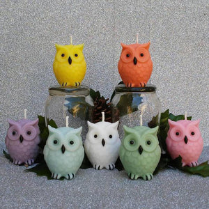 3D Owl Silicone Candle Mold for DIY Making Scented Candles Natural Soy Wax Aromatherapy Candle Mould Resin Clay Fondant Molds