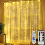 3M LED Curtain Garland Led Usb String Lights Fairy Festoon Remote Control Christmas Decorations for Home Garland on The Window