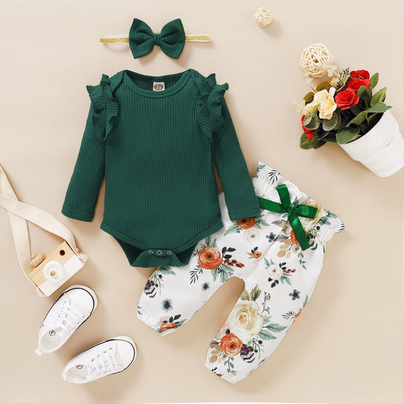 3Pcs Baby Girl Clothes Set Newborn Kids Clothing Childern Clothes Toddler Girl Clothes Bebe Girl Outfits Infant New Born Clothes