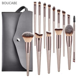 4-14pcs Makeup Brushes Set For Foundation Powder Blush Eyeshadow Concealer Lip Eye Make Up Brush With Bag Cosmetics Beauty Tools