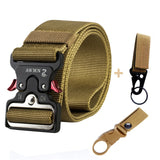 4.8CM Width Men Belt Nylon Tactical Army Belt For Trousers Metal Buckle